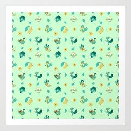 Grass Starters Art Print