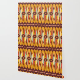 Colorful ethnic pattern Wallpaper