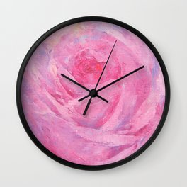 Vicorian Roses Neck Gator Pink Rose Wall Clock