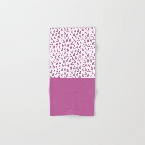 Triangles Purple Hand & Bath Towel