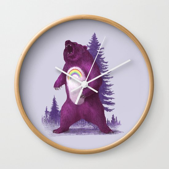 Scare Bear Wall Clock