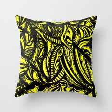 Yellow Lover Throw Pillow