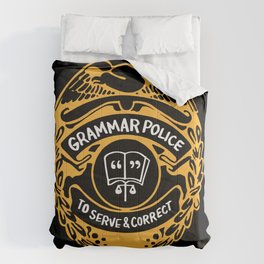 Grammar Police To Serve And Correct Comforters