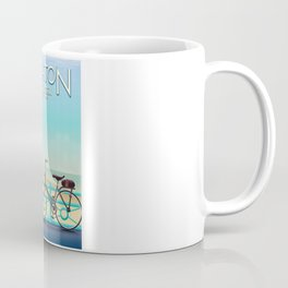 Brighton, East Sussex vintage travel poster. Coffee Mug