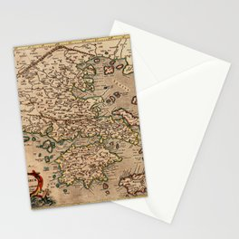 Map Of Macedonia 1695 Stationery Cards