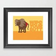 Kids' Bathroom - Wipe Your Butt Framed Art Print