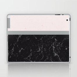 Grey Black Marble Meets Romantic Pink #1 #decor #art #society6 Laptop & iPad Skin
