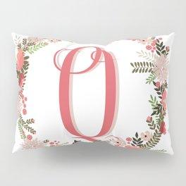 Personal monogram letter 'Q' flower wreath Pillow Sham