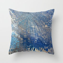 freeze glass with trees Throw Pillow
