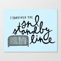 snl Canvas Prints featuring SNL Standby by Liana Spiro