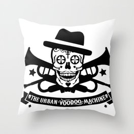 Skull Music Throw Pillow