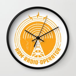 Ham Radio Operator Funny print Gift for Men and Women Wall Clock