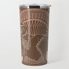 Texas Bohemia in Brown & Blush Travel Mug