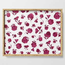 Berry Shadow Bloom Serving Tray