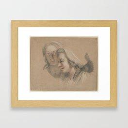 Marie Gabrielle Capet and Marie Marguerite Carreaux de Rosemond, Adélaïde Labille-Guiard Framed Art Print