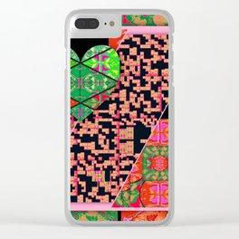 broken heart pattern Clear iPhone Case