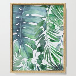 Tropical  Leaves Serving Tray