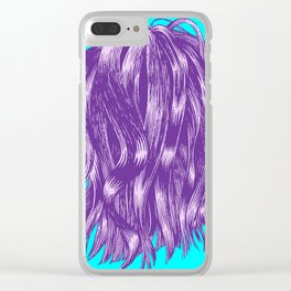 Hair Happening, in Purple & Blue Clear iPhone Case