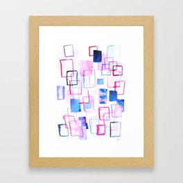 Abstract Watercolor Rectangles Framed Art Print