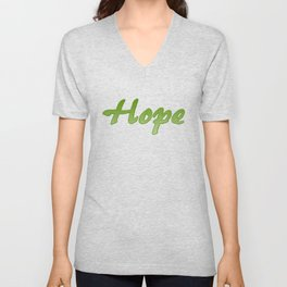 Inspiration Words...Hope Unisex V-Neck