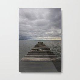Clouds Over Lake Biwa Metal Print