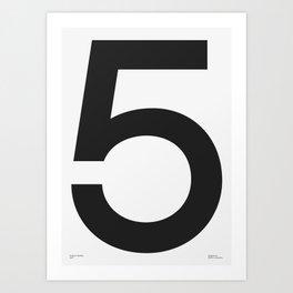 No. 5 — White Art Print