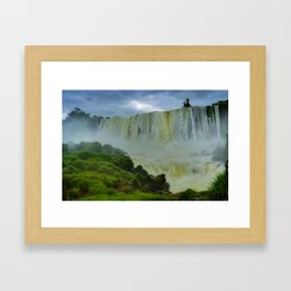 Crying falls Framed Art Print