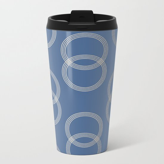 Simply Infinity Link in White Gold Sands on Aegean Blue Metal Travel Mug