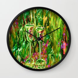 Wine glass with grapes,ladykashmir Wall Clock