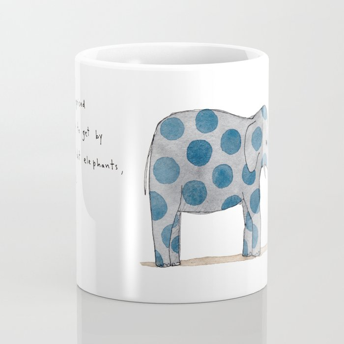 polka dot elephants serving us pie Coffee Mug