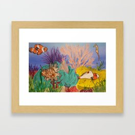 Circus Under the Sea Framed Art Print