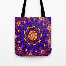Lovely Healing Mandalas in Brilliant Colors: Black, Orchid, Yellow, Royal Blue and Pink Tote Bag