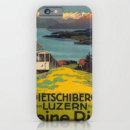 retro kleine rigi   dietschiberg   luzern. 1914  iPhone Case