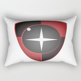 Red Black Sight Rectangular Pillow