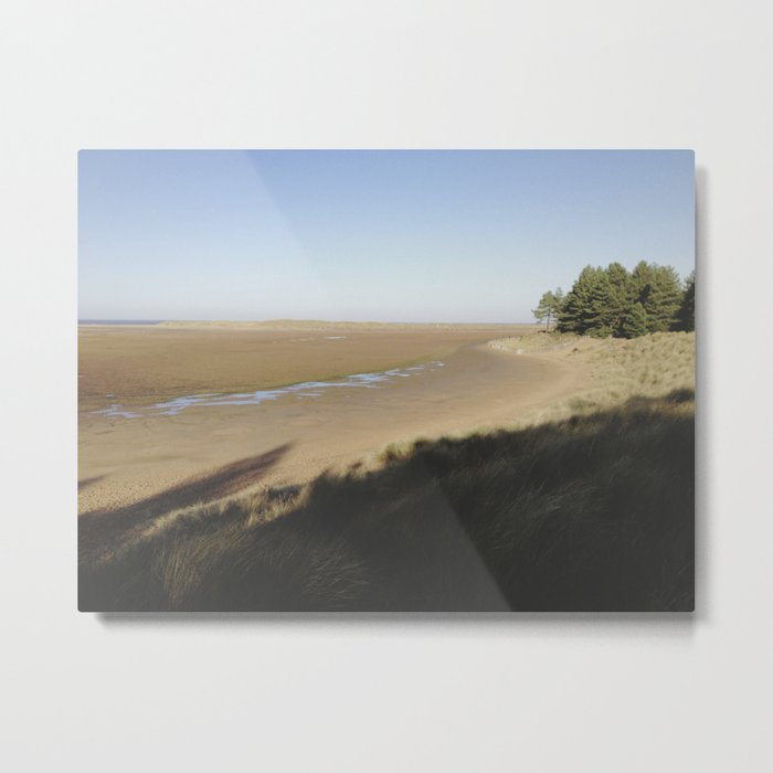 Shadows on the dunes. Metal Print
