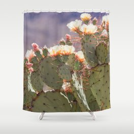 Prickly Pear Blooms I Shower Curtain