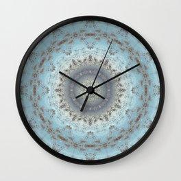 Gray blue kaleidoscope Wall Clock