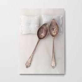 The Art of Spooning Metal Print