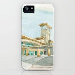 Watercolor Warwick World Headquarters iPhone Case
