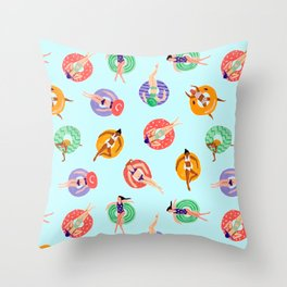 Lazy River Ladies Throw Pillow