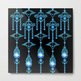 CASTELLINA JEWELS: COOL ELECTRIC BLUE Metal Print