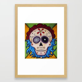 Electric Calavera Framed Art Print