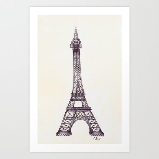 Merci Beaucoup Art Print