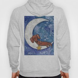Dachshund on the Moon Hoody