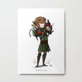 The Littlest Assassin Metal Print