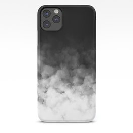 Ombre Black White Minimal iPhone Case