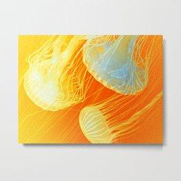 Jellyfish of the Orange Marmalade Hoodie Metal Print