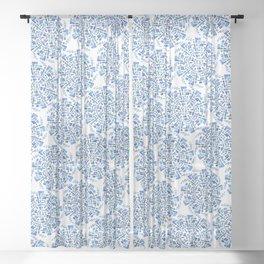 Rotations - Blue Sheer Curtain