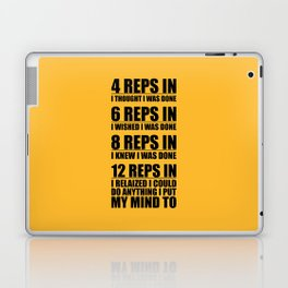 Lab No. 4 - 4 Reps In I Thought I Was Done Gym Motivational Quotes Poster Laptop & iPad Skin