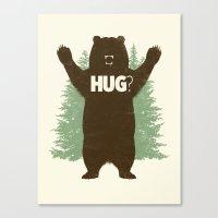 bear Canvas Prints featuring Bear Hug? by Fanboy30
